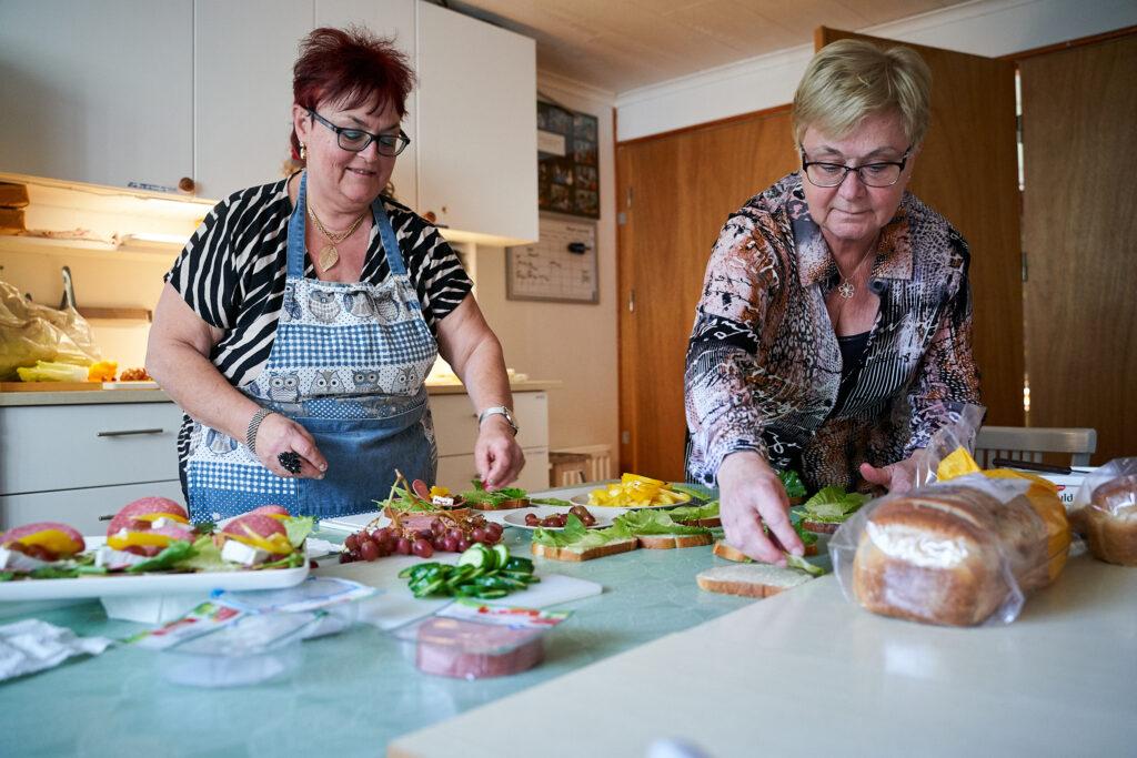 Förberedelser i köket. Foto: Thor Hauknes